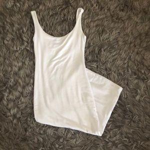 Naked Wardrobe White Bodycon Tank Dress